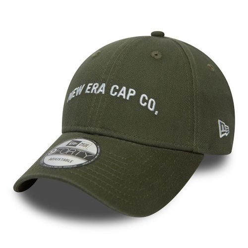 NEW ERA MENS 9FORTY BASEBALL CAP.NEW SCRIPT ARMY GREEN ADJUSTABLE COTTON HAT 8W2
